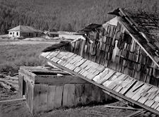 Broken Roof, Gilmore, Idaho. Limited edition black and white photograph