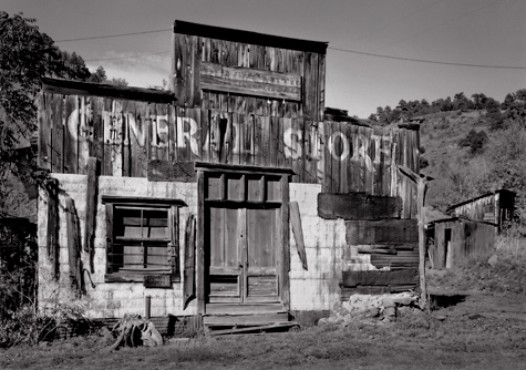 General Store,  Mogollon, New Mexic. Limited edition black and white photography