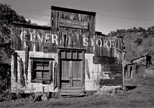 General Store,  Mogollon, New Mexic. Limited edition black and white photographo