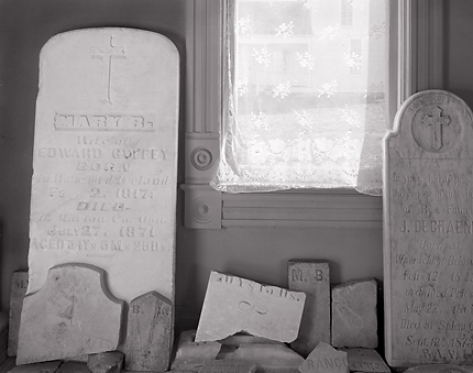 Headstones and Window, 1986. St. Paul, Oregon