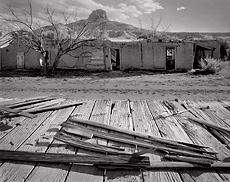 Porch, Heller House, Cabezon, New Mexico. Limited edition black and white photograph