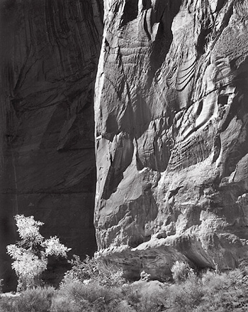 Horseshoe Canyon, Utah. Black and white photograph