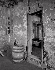 Old Mail Station,. Shakespeare, New Mexico. Black and white ghost town photograph