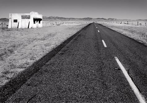 Open Road, Near Valentine, Texas. Limited Edition Black And White Photograph