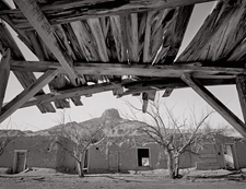 Porch and Balcony, Heller House, Cabezon, New Mexic. Limited edition black and white photographo