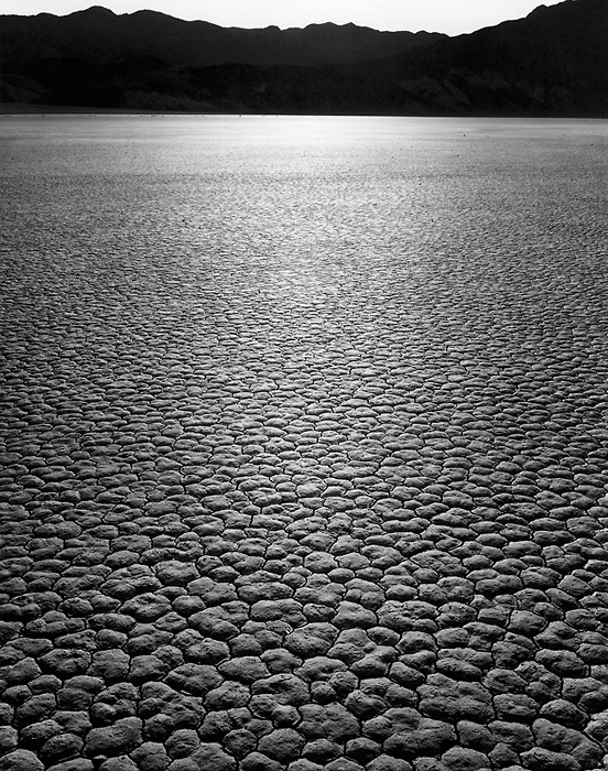 Racetrack, Sunrise, 1976. Death Valley National Park, California