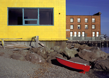 Red Boat, 1986. Port Townsend, Washington. Color Photograph